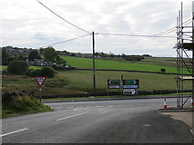 NY9185 : Minor Road joining the A68 at Sarelaw Cottage by Peter Wood