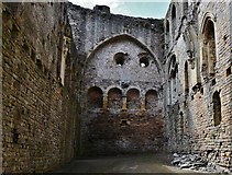 ST5394 : Chepstow Castle: The great hall in the great tower by Michael Garlick
