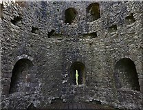 ST5394 : Chepstow Castle: South west tower interior 1 by Michael Garlick