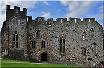 ST5394 : Chepstow Castle: Roger Bigod's later c13th domestic block 3 by Michael Garlick