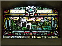 SJ8499 : Spanish and Portuguese Synagogue, Stained Glass Window (Rachel's Tomb) by David Dixon