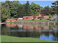 SJ8372 : View across lake to gardens at Capesthorne Hall near Siddington by Colin Park