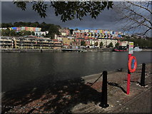 ST5772 : Bristol - View across Floating Harbour to colourful houses on Ambrose Rd by Colin Park