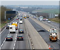 SP5774 : M1 motorway towards the Catthorpe Interchange by Mat Fascione
