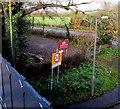 SJ8104 : Yard below Albrighton railway station by Jaggery