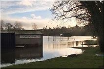 NT2540 : Flooded playing fields, Walker's Haugh Peebles by Jim Barton