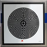 TQ3780 : Canary Wharf tube station - Labyrinth 72 by Mike Quinn