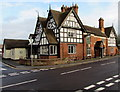 SJ8104 : Corner view of The Crown, Albrighton by Jaggery