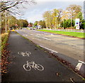 SJ8005 : Cycle route, Cosford by Jaggery