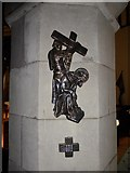 TQ5802 : St Mary, Willingdon: Third Station of the Cross by Basher Eyre