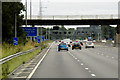 SE1723 : Kirklees Way Footbridge over the M62 by David Dixon