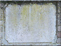 TQ3296 : Old plaque on the bridge over the New River (old course) at Church Street (A110), EN2 by Mike Quinn