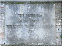 TQ3296 : New(ish) plaque on the bridge over the New River (old course) at Church Street (A110), EN2 by Mike Quinn