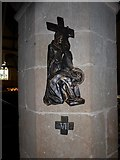 TQ5802 : St Mary, Willingdon: Seventh Station of the Cross by Basher Eyre