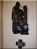 TQ5802 : St Mary, Willingdon: Fourteenth Station of the Cross by Basher Eyre