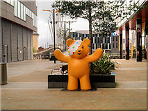 SJ8097 : Pudsey Outside the BBC by David Dixon