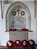 TQ5802 : St Mary, Willingdon: war memorial by Basher Eyre