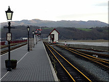 SH5738 : The extended Ffestiniog platform at Porthmadog Harbour  by John Lucas