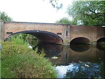 SK5907 : Bridge in Leicester, across the River Soar by Oliver Mills