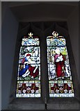 TQ5802 : St Mary, Willingdon: stained glass window (IV) by Basher Eyre