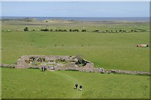 NU1341 : View of Lindisfarne Castle garden by Philip Halling