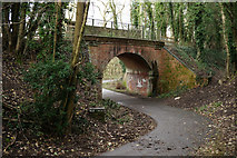 SU4726 : Railway Bridge over the Itchen Way by Peter Trimming