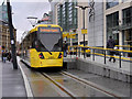 SJ8398 : Metrolink Tram at Exchange Square by David Dixon