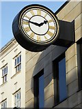SO8554 : Clock on Worcester High Street by Philip Halling