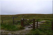 SD7983 : Gate at Newby Head Gate by Tim Heaton