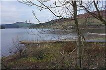 SK2086 : Fishing stages by Ladybower Reservoir by Bill Boaden