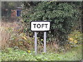 TL3656 : Toft Village Name sign on Hardwick Road by Adrian Cable