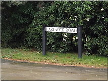 TL3656 : Hardwick Road sign by Adrian Cable
