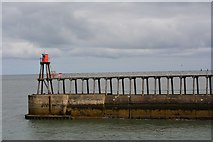 NZ8911 : East pier, Whitby by Oliver Mills