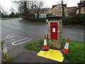 TL3556 : Toft Post Office Edward VII Postbox by Adrian Cable
