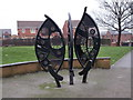 SE3821 : Metal Sculpture - off Sunny Bank by Betty Longbottom