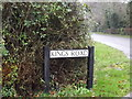 TL3758 : Kings Road sign by Adrian Cable