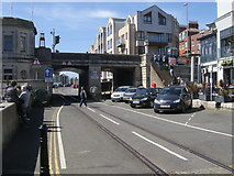 SY6778 : Old quayside track by Shaun Ferguson