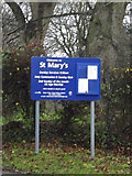 TL3758 : St.Mary's Church sign by Adrian Cable