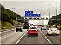 SE2227 : Eastbound M62 near to Drighlington by David Dixon