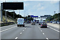 SE2626 : New Variable Message Sign (VMS) on Westbound M62, near to Morley by David Dixon