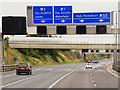 SE3126 : M62 Approaching Junction 29 (Lofthouse Interchange) by David Dixon