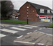 ST3091 : Zebra crossing to Larch Grove shops, Malpas, Newport by Jaggery