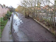 SO8554 : Drained Worcester and Birmingham Canal by Philip Halling