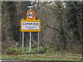TL4159 : Cambridge City sign on the A1303 St.Neots Road by Adrian Cable