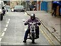 H4572 : Biker, Omagh by Kenneth  Allen