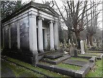 TQ2272 : Mausoleum in Putney Vale Cemetery by Marathon