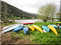 NN3098 : Resting Kayaks by Chris McAuley