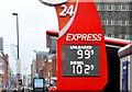 J3373 : Fuel prices sign, Belfast (18 December 2015) by Albert Bridge