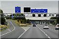 SE3525 : Eastbound M62, Sign Gantry at Junction 30 by David Dixon