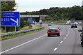 SE3824 : M62 Eastbound near to Lower Altofts by David Dixon